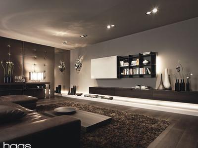 Wohnzimmer hackl lebensr ume for Puristisches wohnzimmer